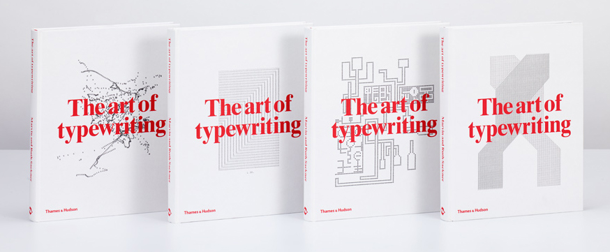 The Art of Typewriting  layout was created by London's leading graphic design studio, Graphic Thought Facility, and each book has a cover with a unique combination of front and back image.