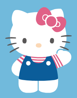 Hello Kitty, featuring my favorite colors