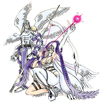Angemon and Angewomon
