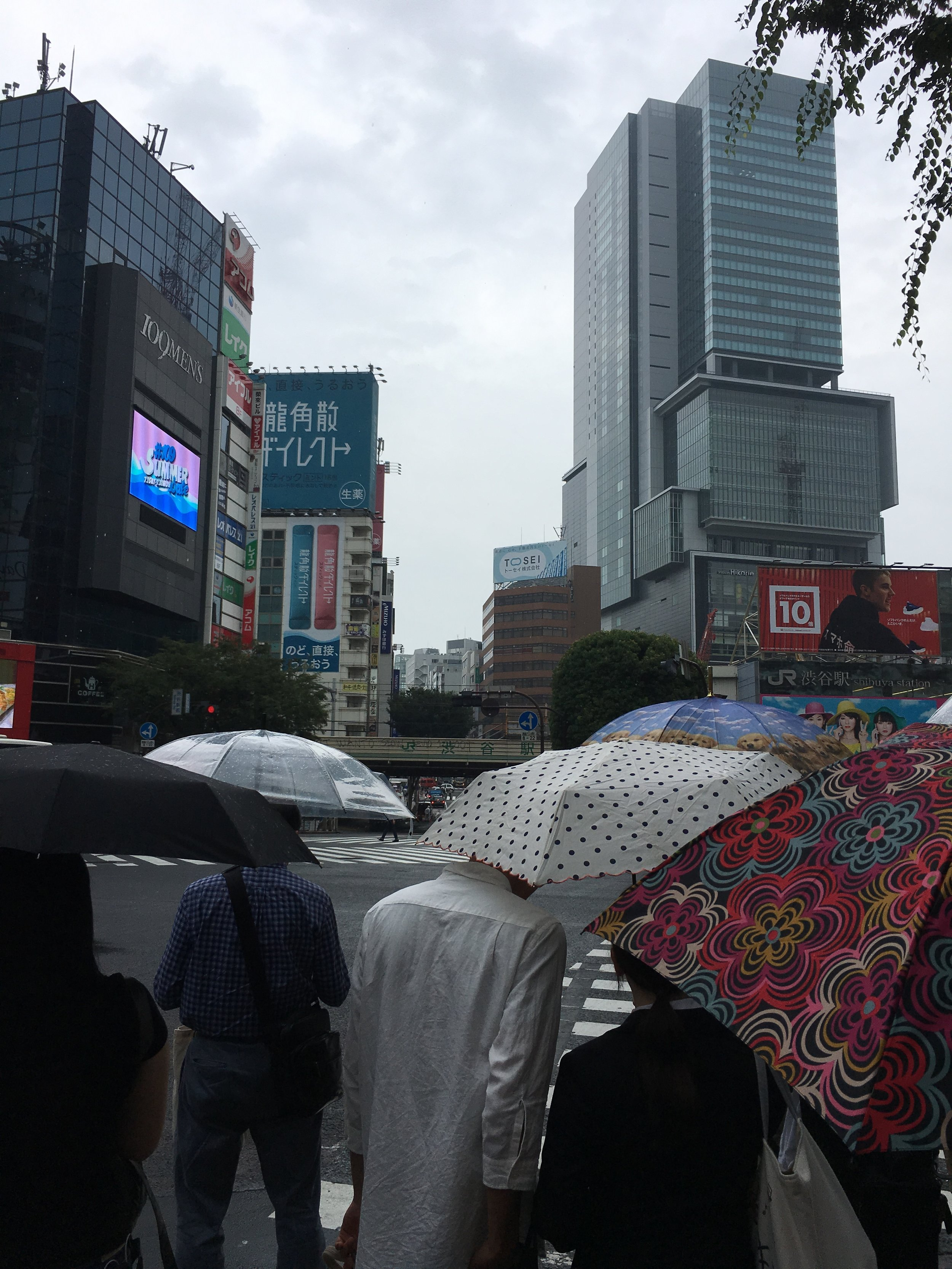 Okay, one more. This is Shibuya today. Photo by yours truly.