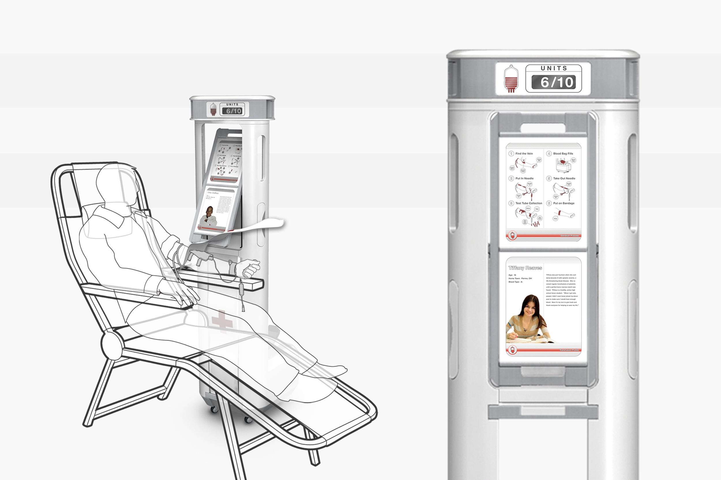 Blood Donation Station Concept  |  Product Design