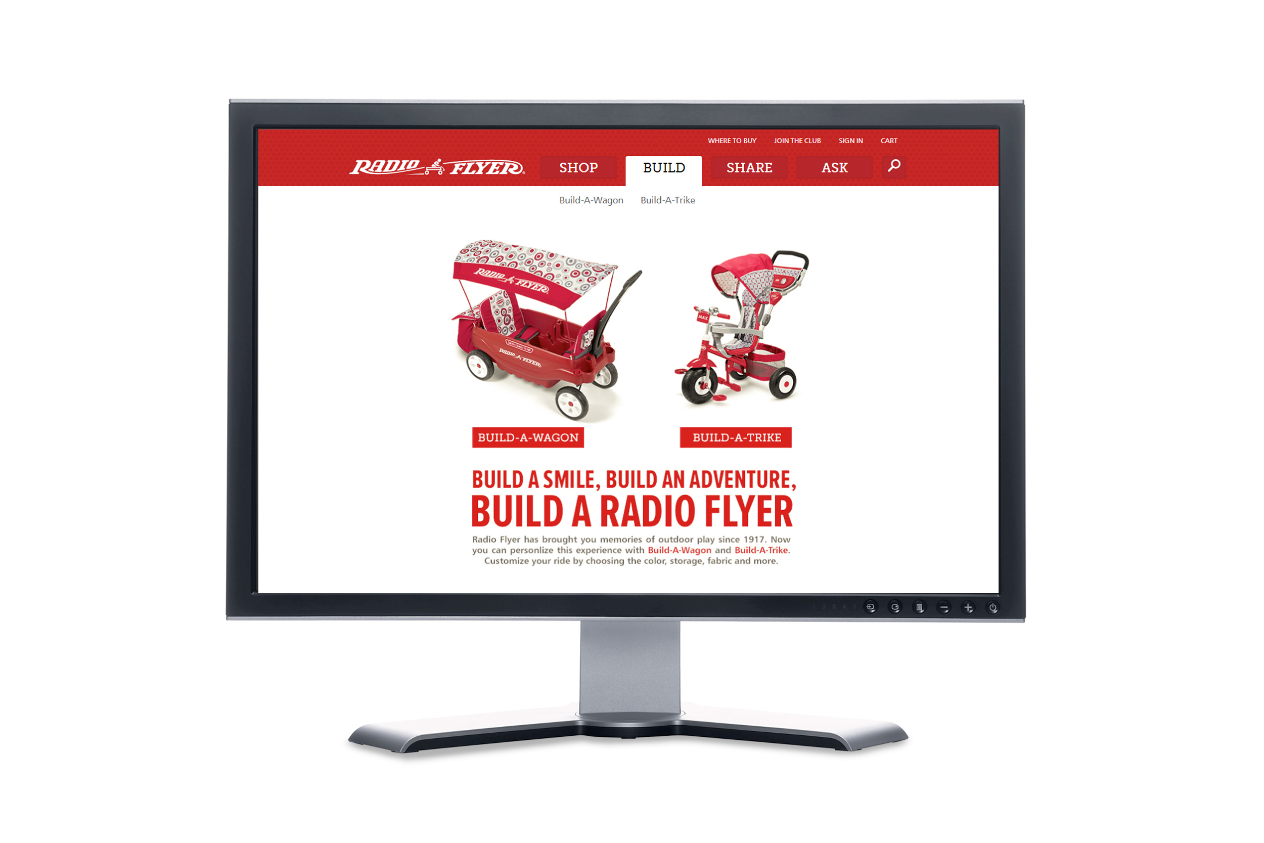 Radio Flyer Build-A-Wagon & Build-A-Trike Programs  |  Website UI