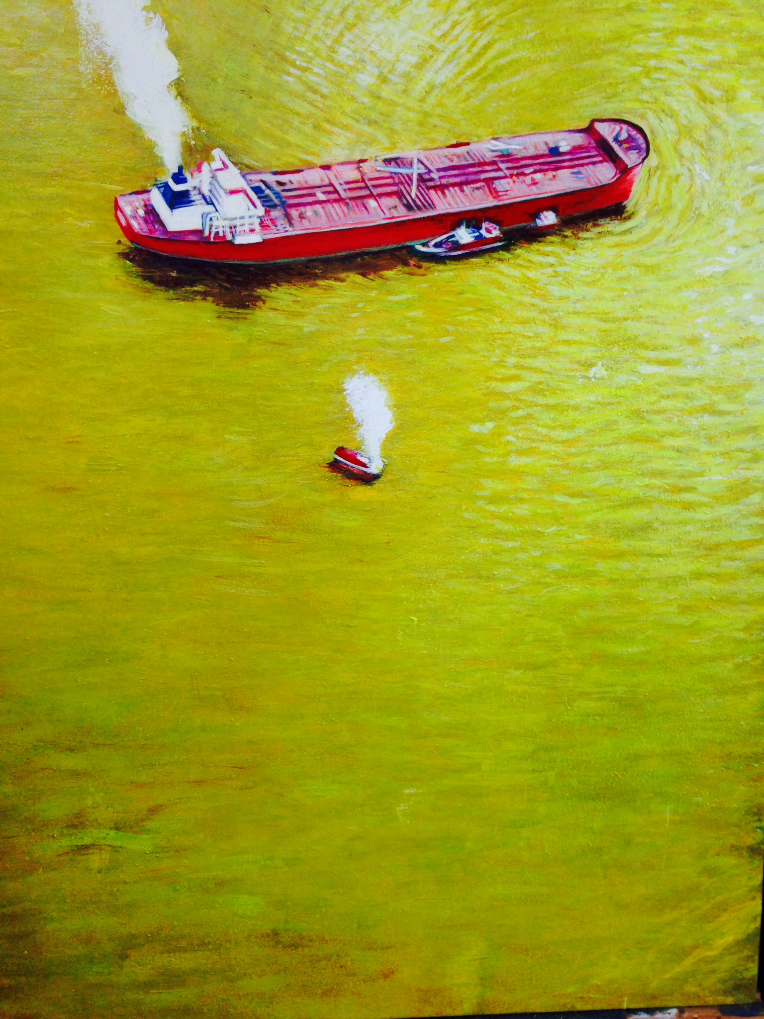 Serge Strosberg      Gold Spill     2014    oil, tempera and gold paint    30 x 43 inches