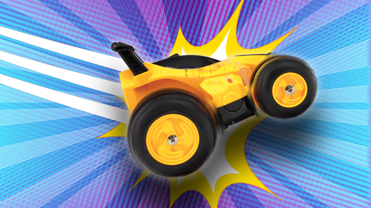 Pull Off Epic Wheelies! - Rumbler comes fully equipped with a wheelie bar that lets you have fun pulling of amazing stunts!