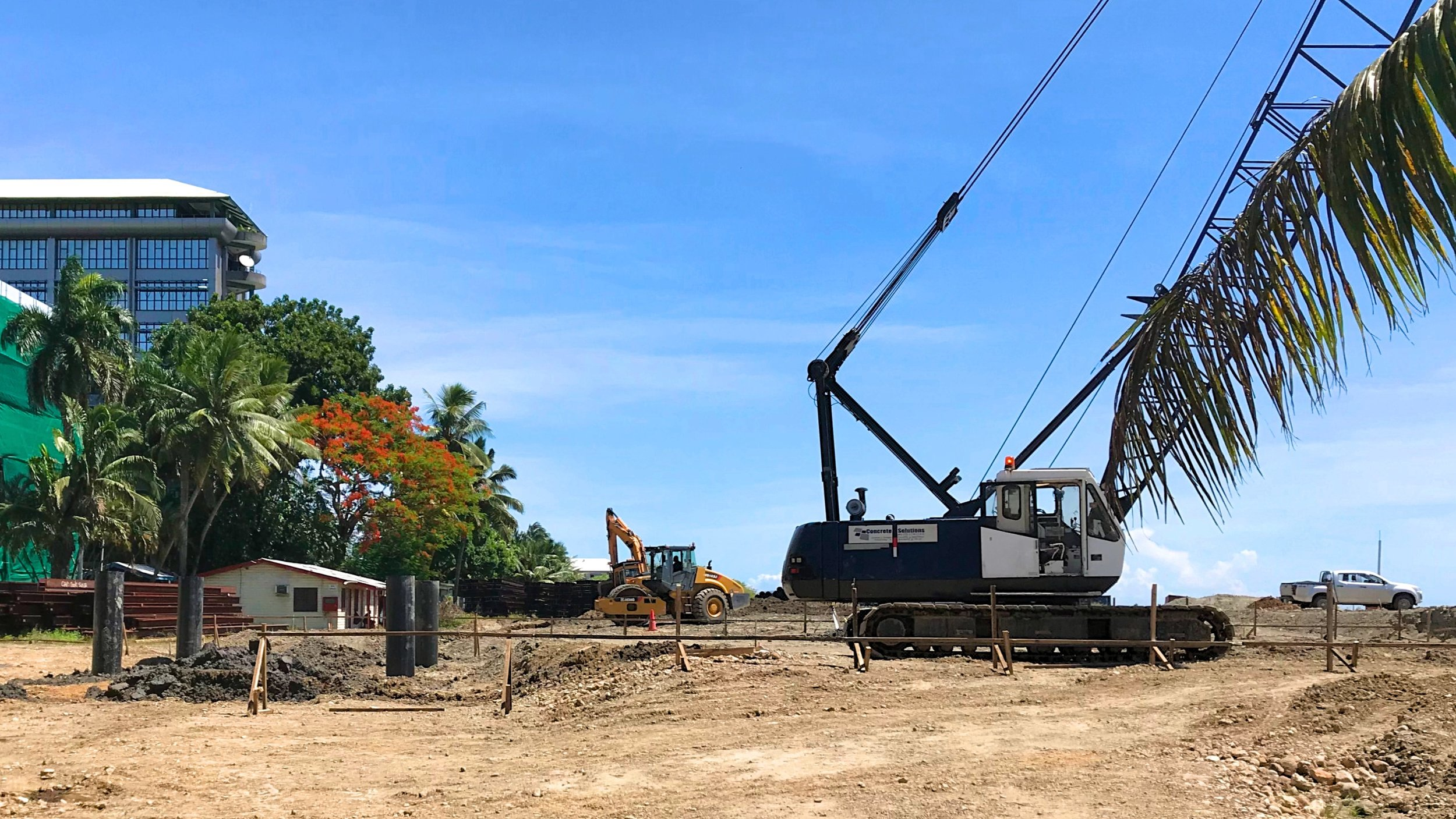 Piling works have commenced for one of the budget hotels in the Suva Foreshore project, Fiji.