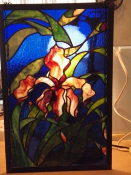 Fluer-de-leis Art Glass panel