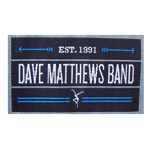 Woven Clothing Label Dave Matthews Band
