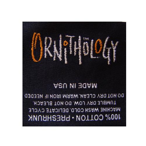 Woven Label Ornithology