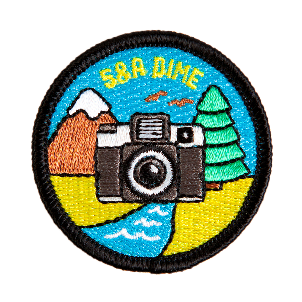 embroidered patch 5&a dime