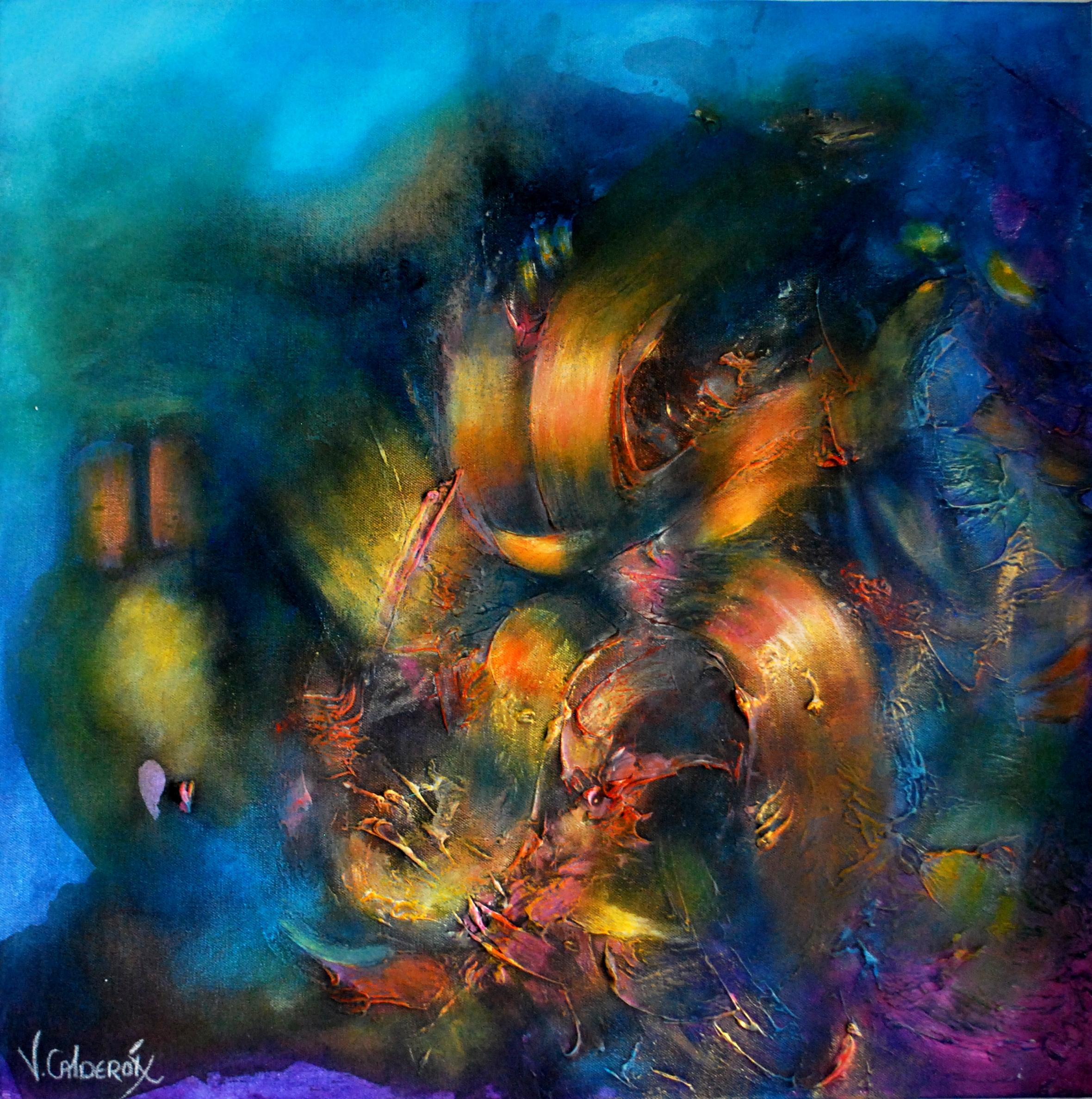 Resplendor Nocturno 60 x 60 cm  Sold / Vendido