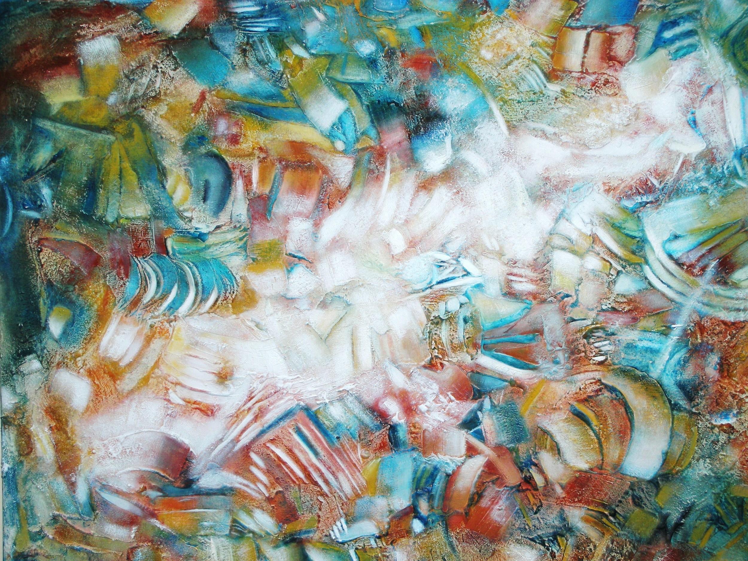 Memorias de un Pueblo Sagrado. 100 x 76 cm Sold / Vendido