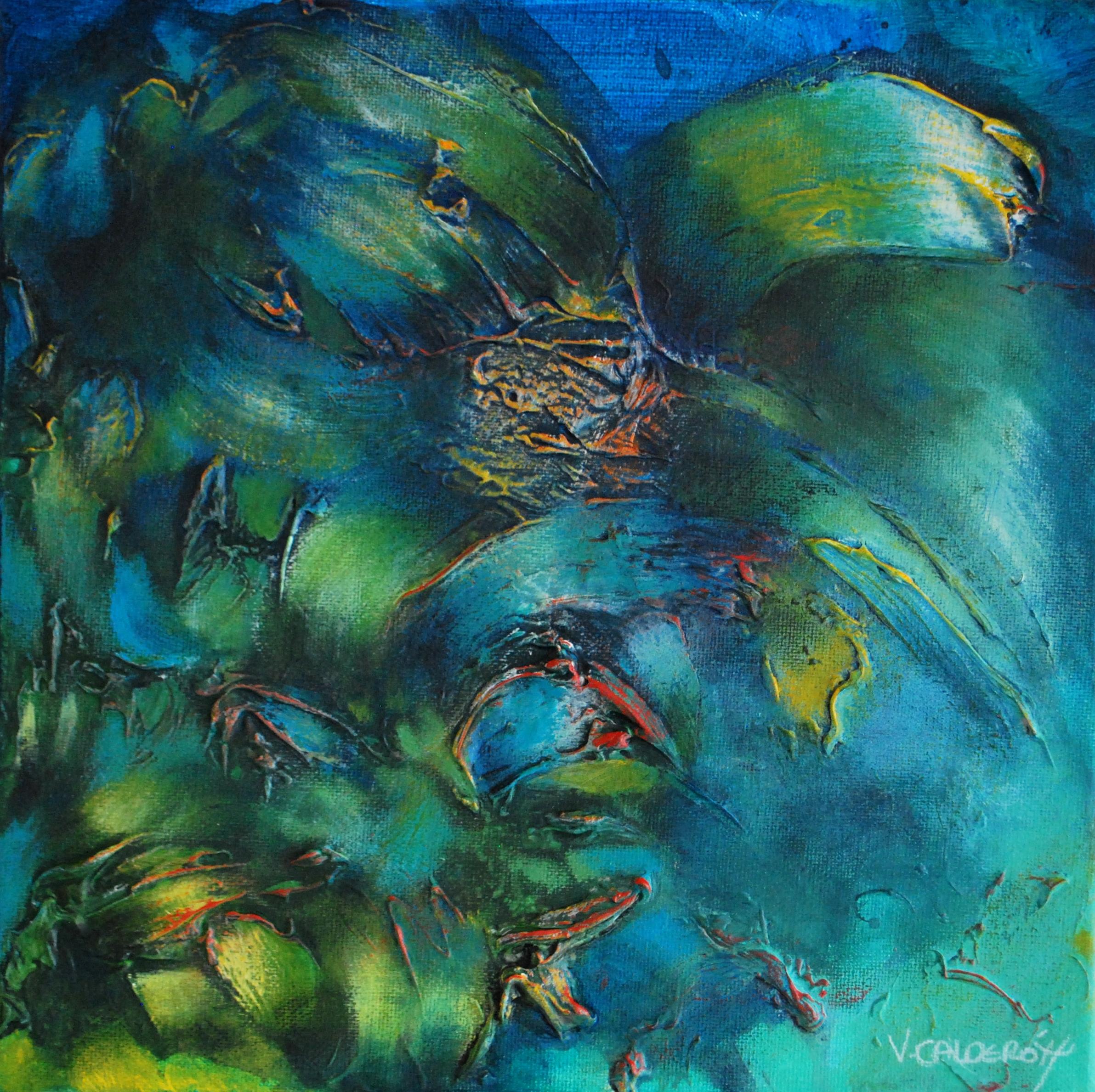 Poemas de la Noche 30 x 30 cm 12 x 12 in. Sold / Vendido