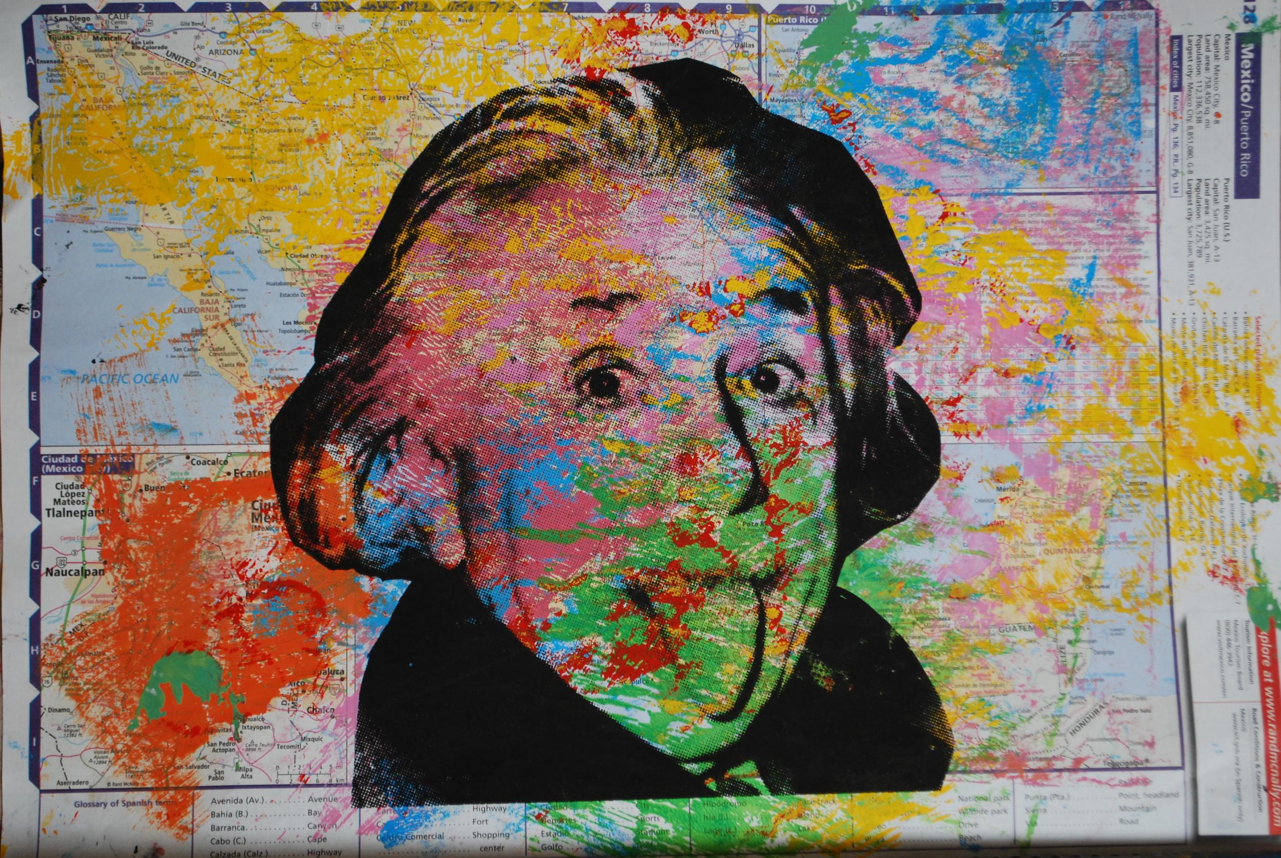 Einstein Mapa Chiquito 2. 15.5 x 10.5 in
