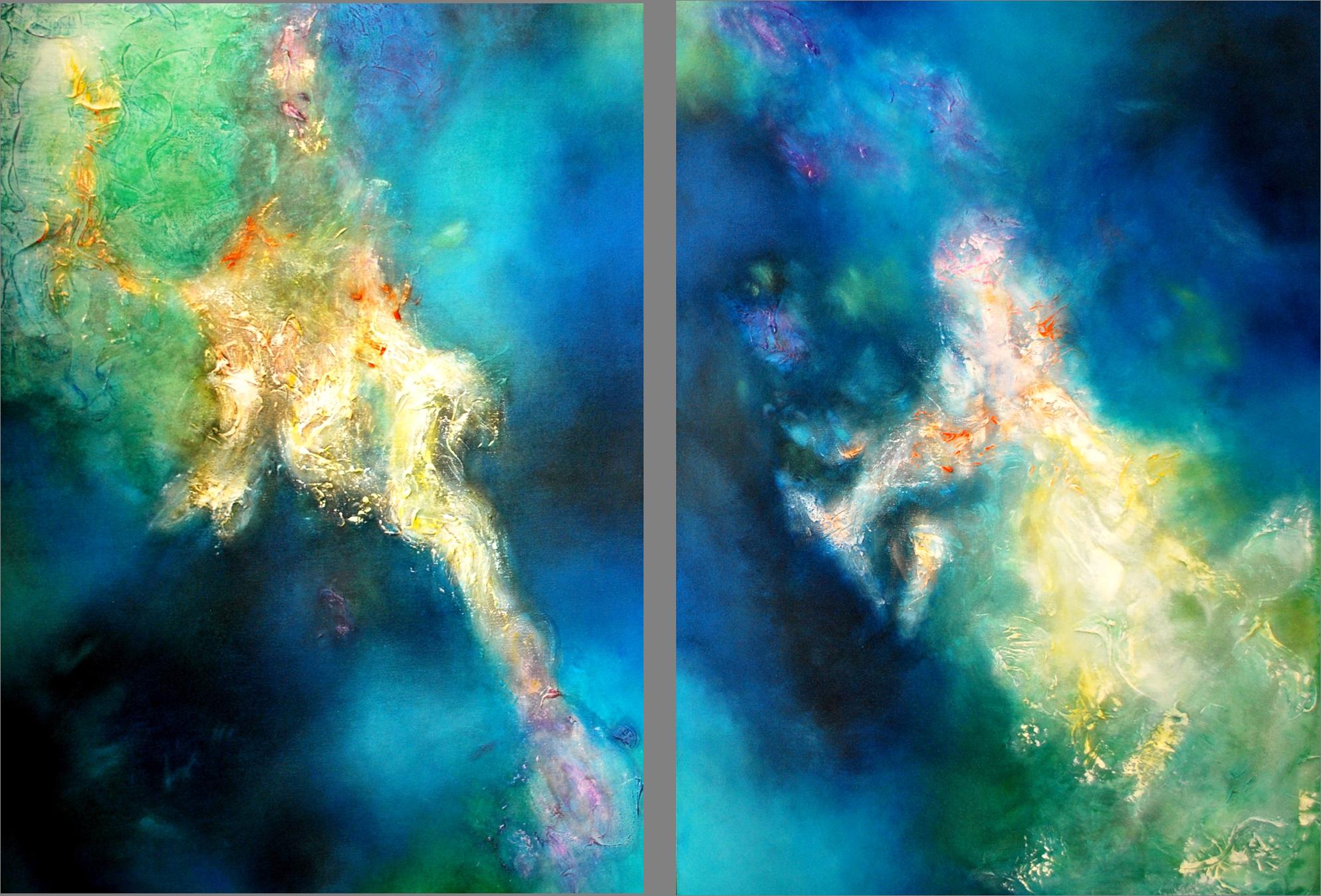 Remansos de reflejos profundos I & II 100 x 70 cm Sold / Vendido