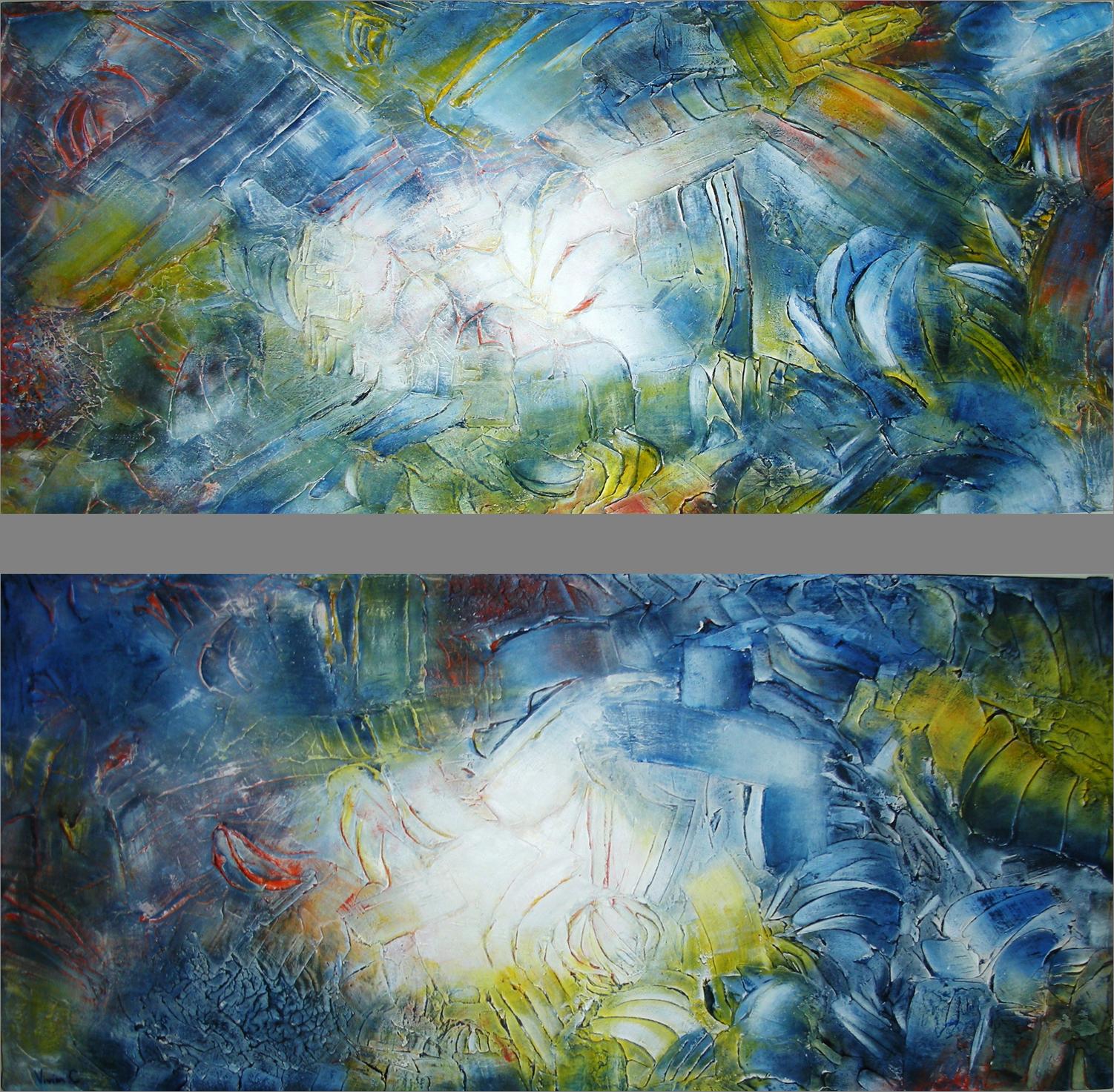 Mar, Tierra y Vida I, II 90 x 50 cm ROBADO