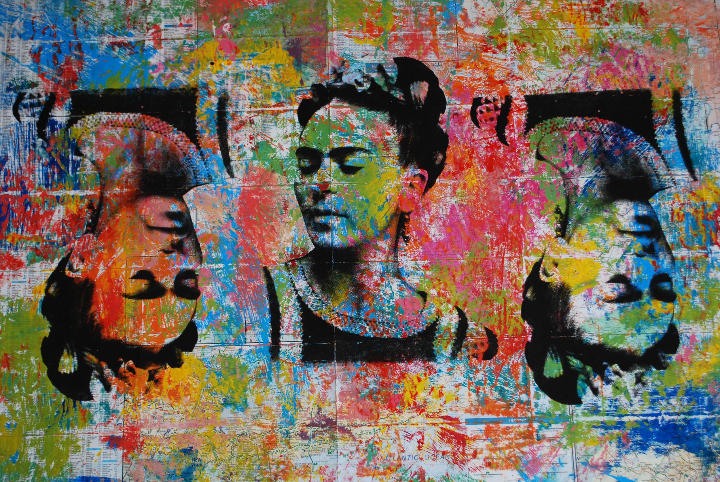 Frida Mapa Grande 4. 37 x 26 in