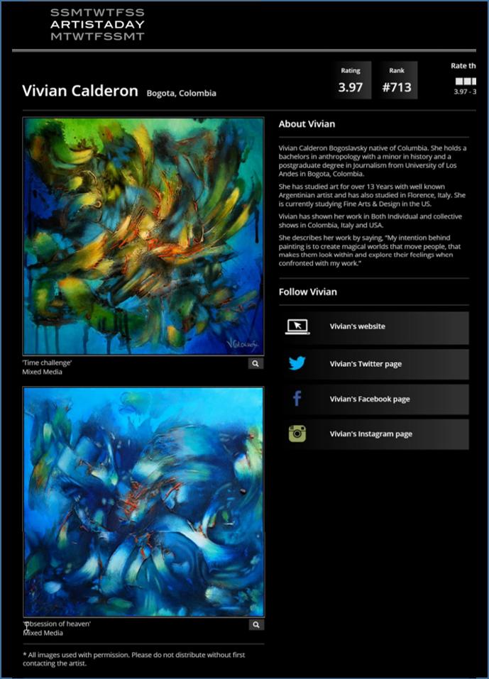 Vivian Calderon - Bogota, Colombia Artist - Painters - Artistaday.com.jpg