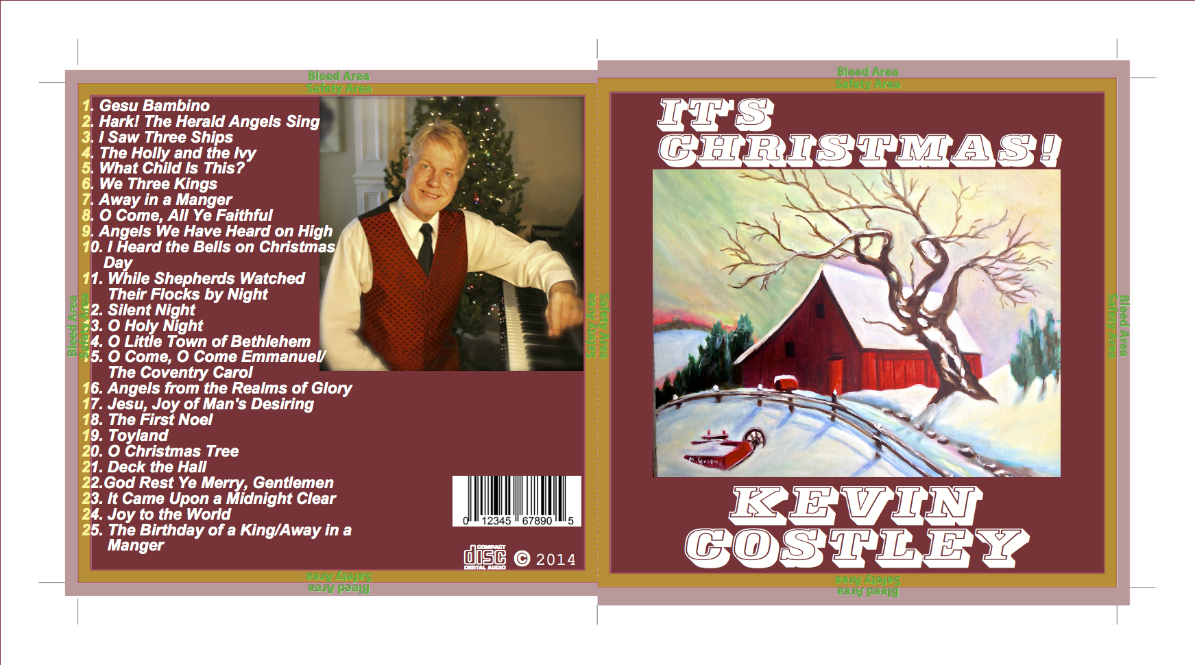 """It's Christmas!"", an album for the holidays. Find out how to get your own copy by clicking on, ""Order CD's"" on the left hand side of the page."
