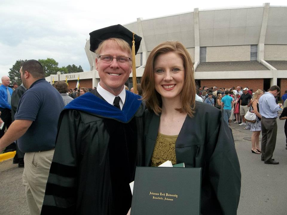 Kevin at his daughter's college graduation, where he had the honor of handing the diploma to her. May, 2012.