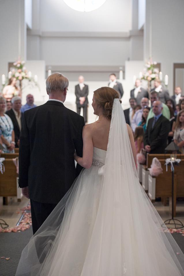 Kevin walking his daughter down the aisle. June, 2014.