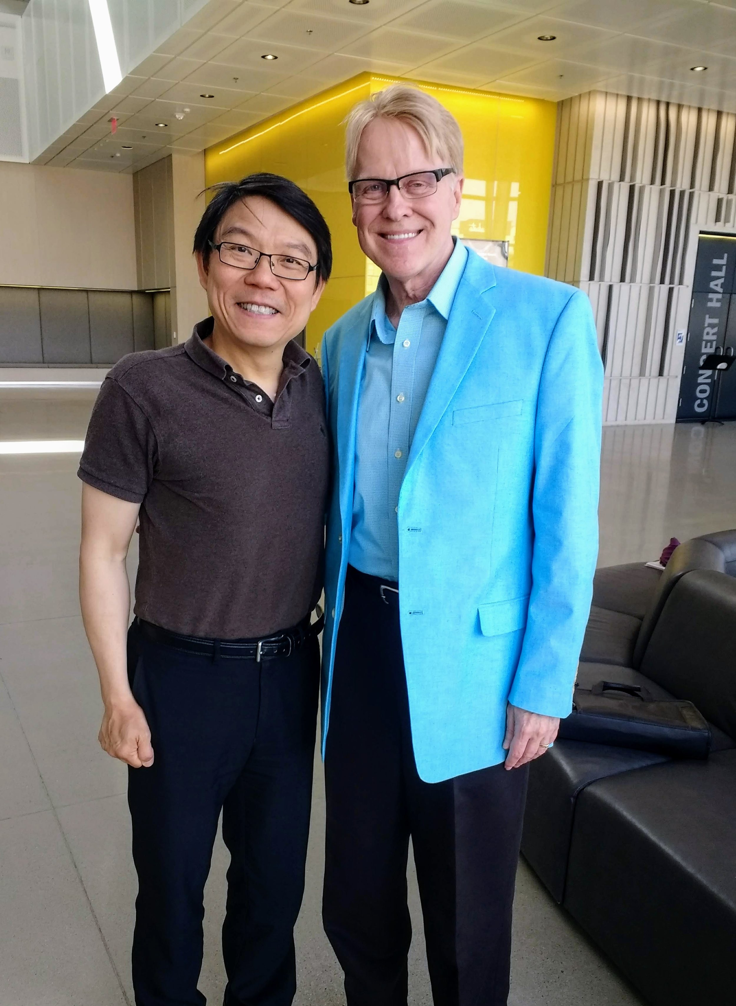 Kevin with Samuel Kwok