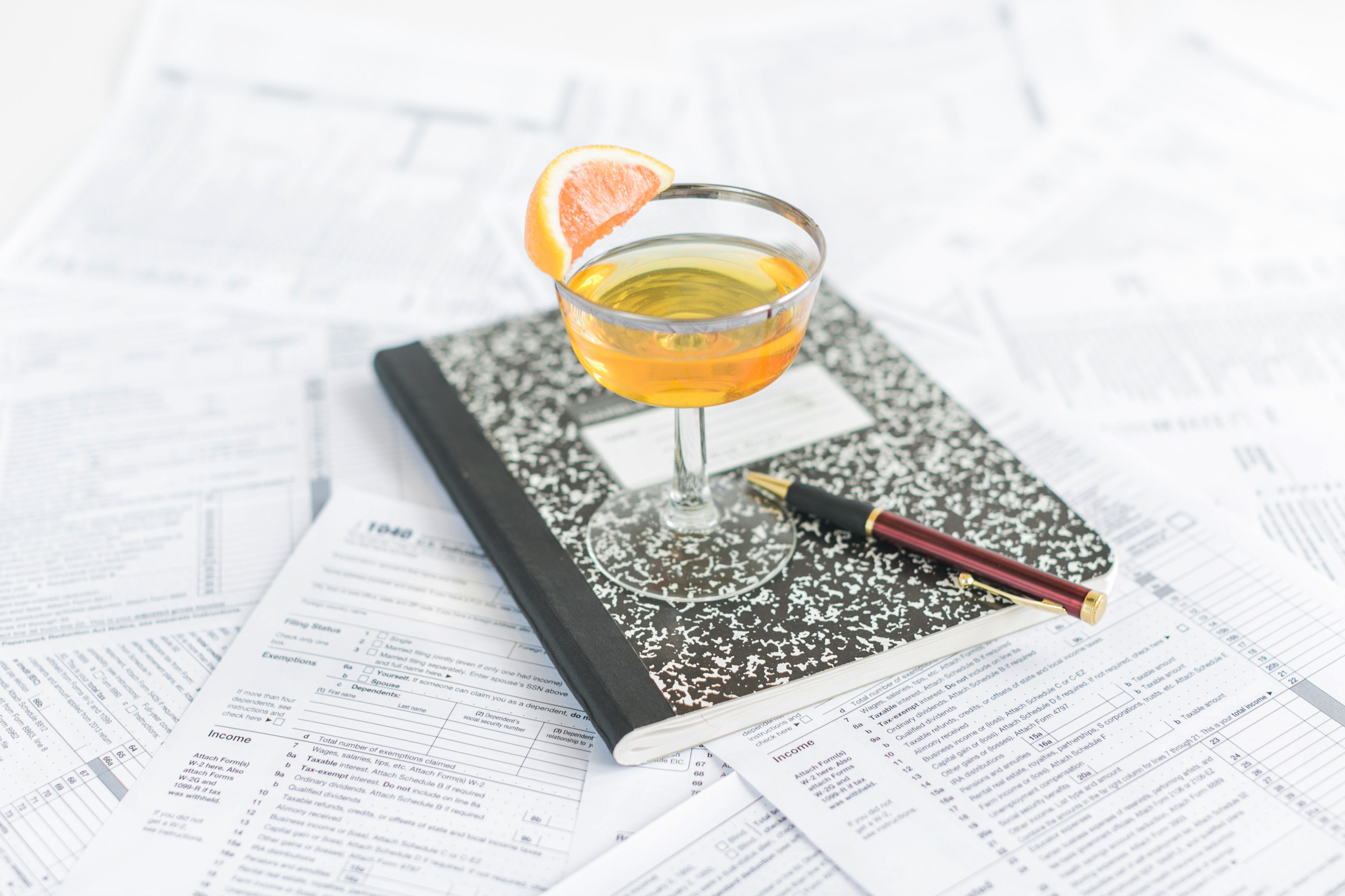 style me pretty living - income tax cocktail