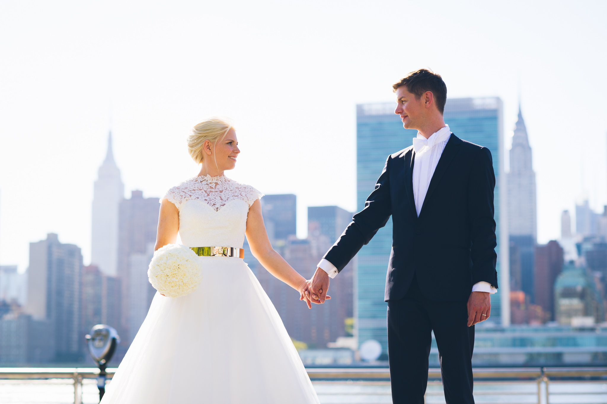 wedding wire - Elegant Manhattan Rooftop Wedding of Katharina & Ralf