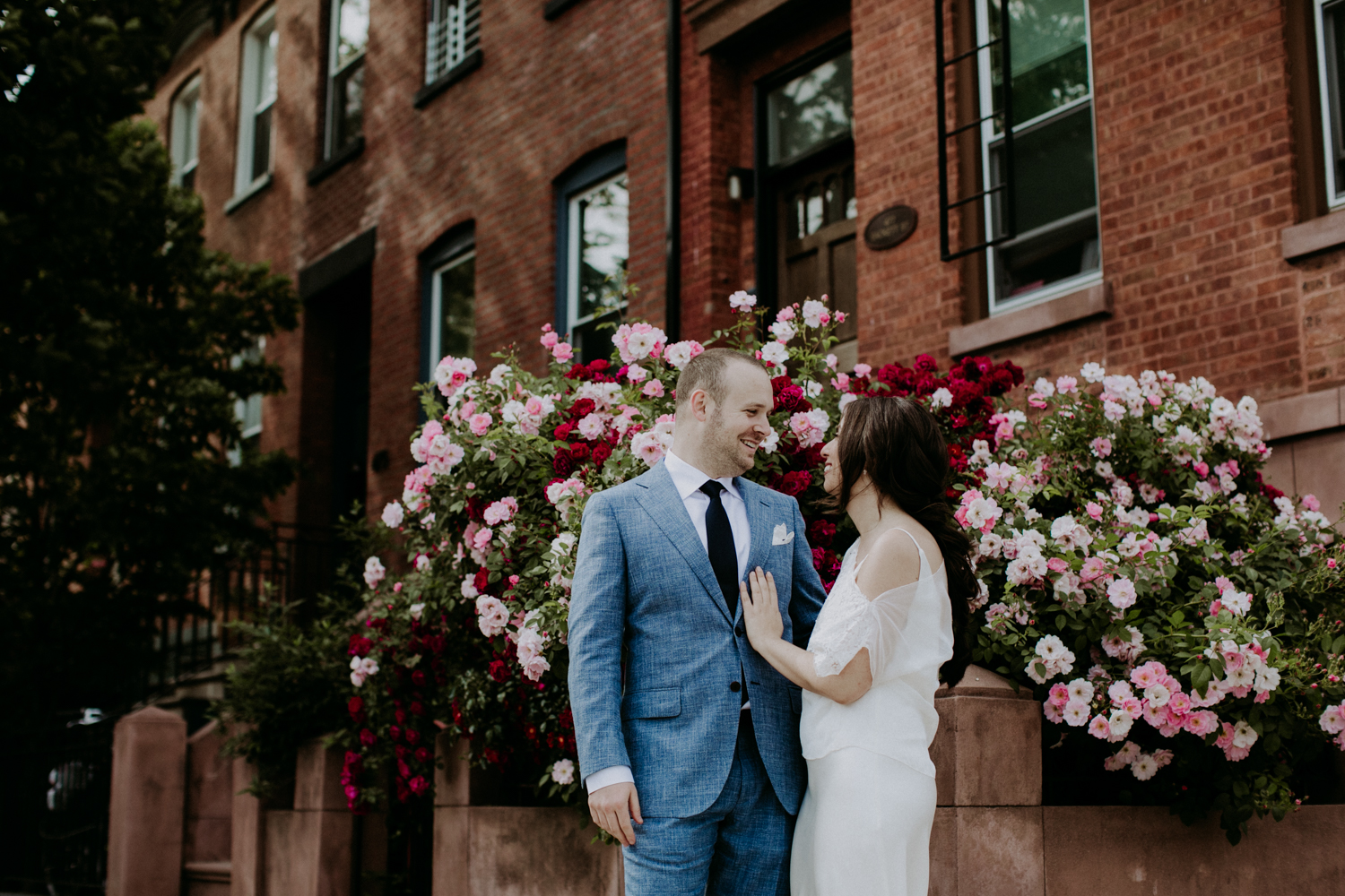 Roni and Jake's cocktail-style wedding at 501 Union in brooklyn