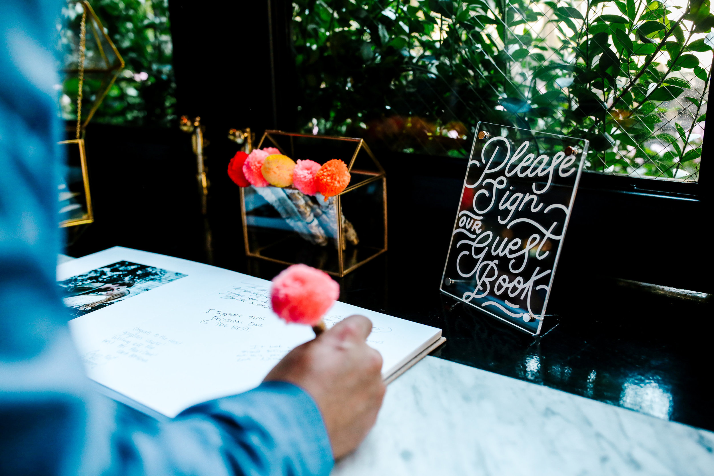 inspired by this - 4 UNIQUE IDEAS FOR A GUEST BOOK