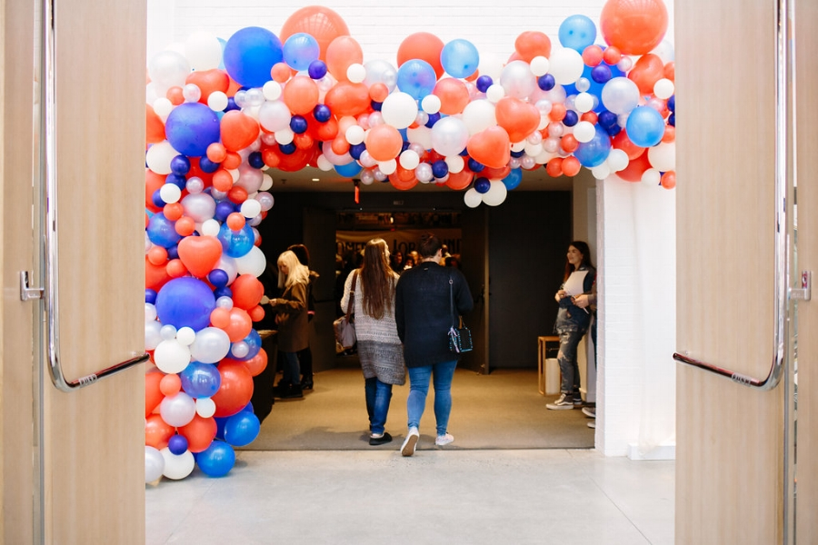 All photos by  Ciara Perrone ; balloon arch by  Wile Events