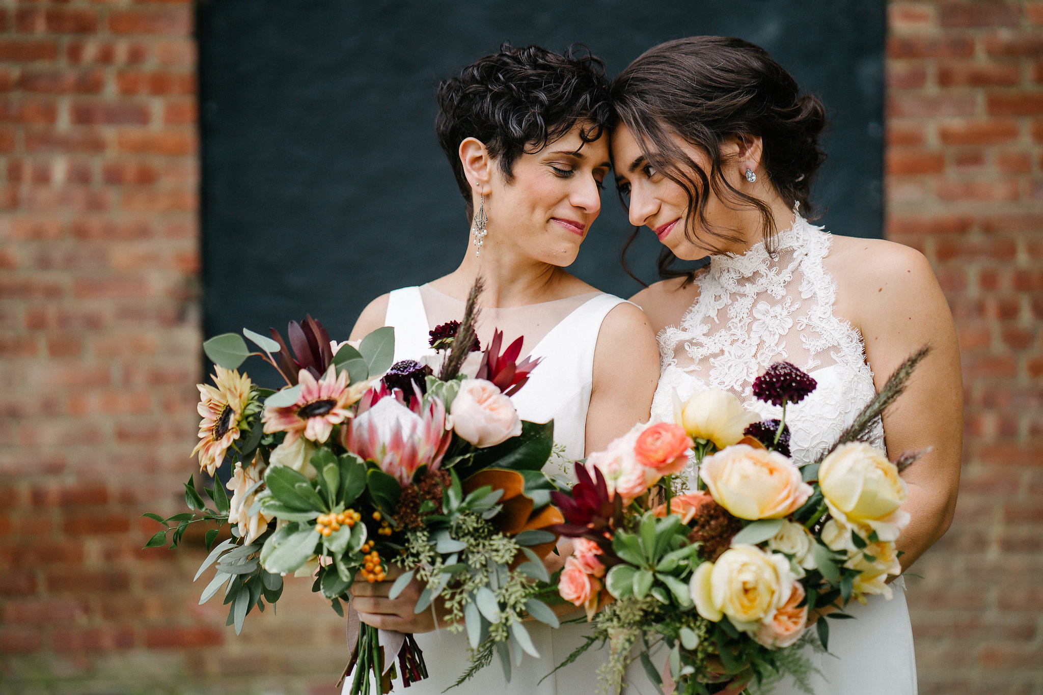 Elissa and Jess' vibrant roundhouse wedding in the hudson valley