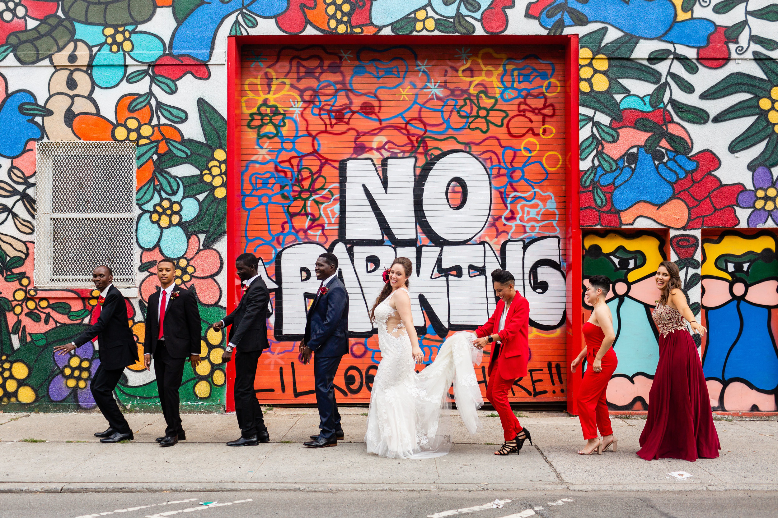 Liz & Joab's vibrant multi-cultural wedding in brooklyn at 501 Union