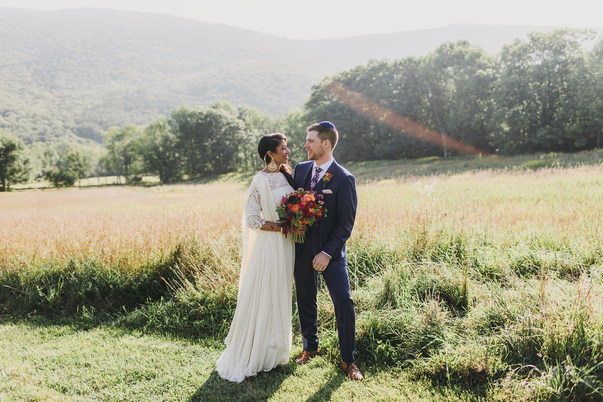 Sharan & Rob's indian-jewish wedding in the CATSKILLS