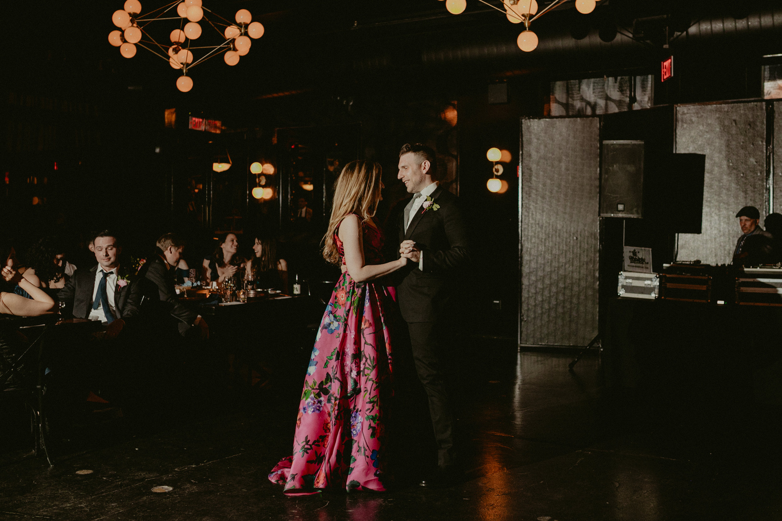 hannah and michael's Jewel toned Brooklyn wedding at 501 union