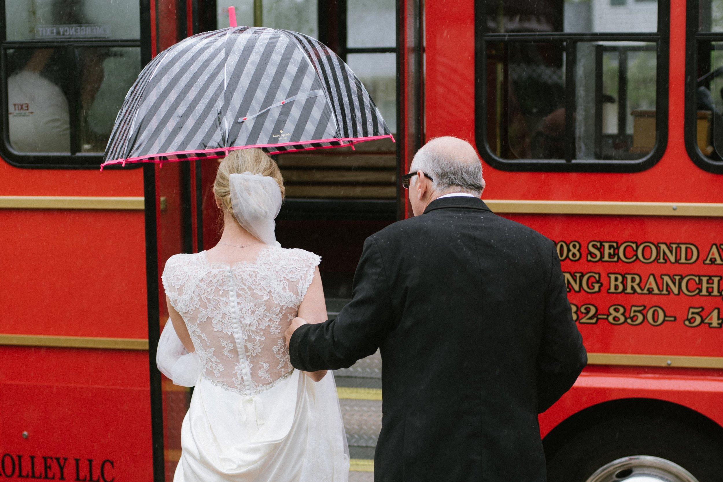 martha stewart weddings - Public Transportation on Your Wedding day?
