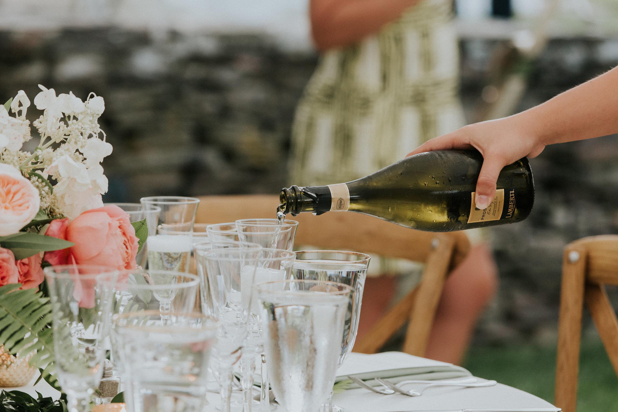 martha stewart weddings - drinking while getting wedding-ready