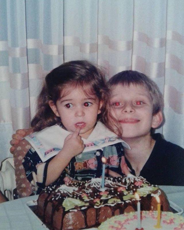 Abisi @nazliecekandur ❤️ HBD 🎂  #birthday #brothersister #beforeafter