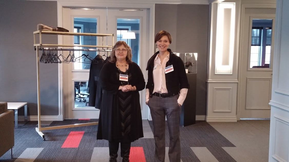 Marie Lee, Staff Assistant, UNO Foreign Languages and Literature department and AFO Member Elizabeth McCartney help host and greet guests for this interesting presentation.