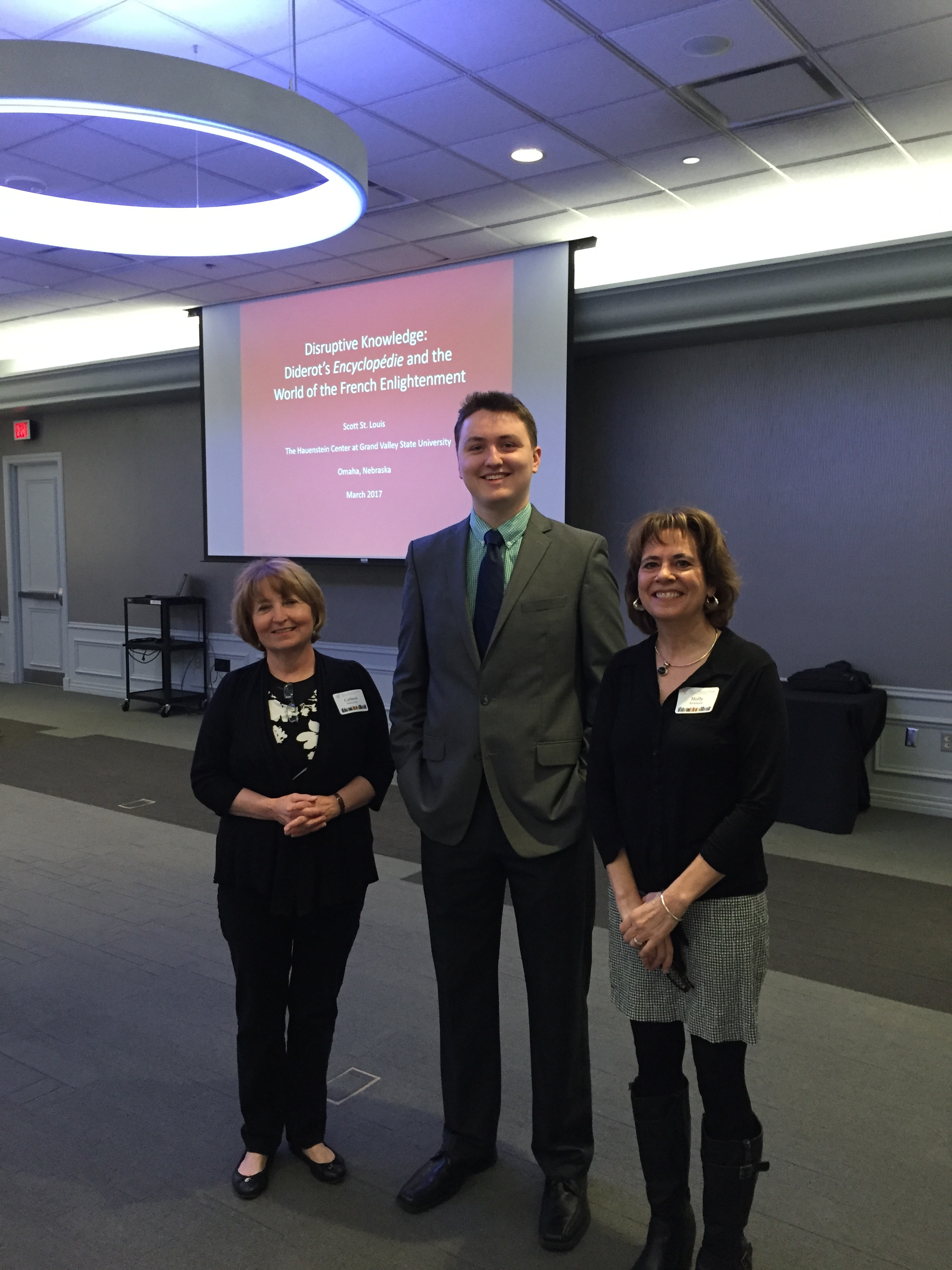 AFO Members Colleen Sariscsany and Holly Richmond with Scott St. Louis.