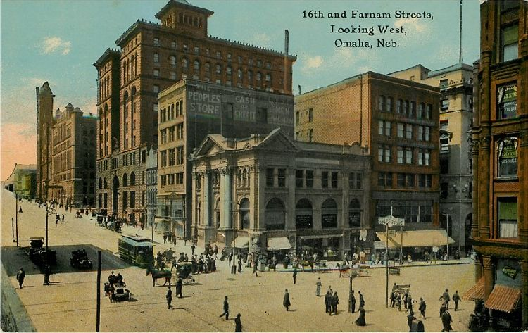 Postcard image of Omaha, NE in 1917. During this time, Felix Despecher was the first President of the Alliance Française d'Omaha, Ralston mayor and long-time faculty member of Creighton's dental school.
