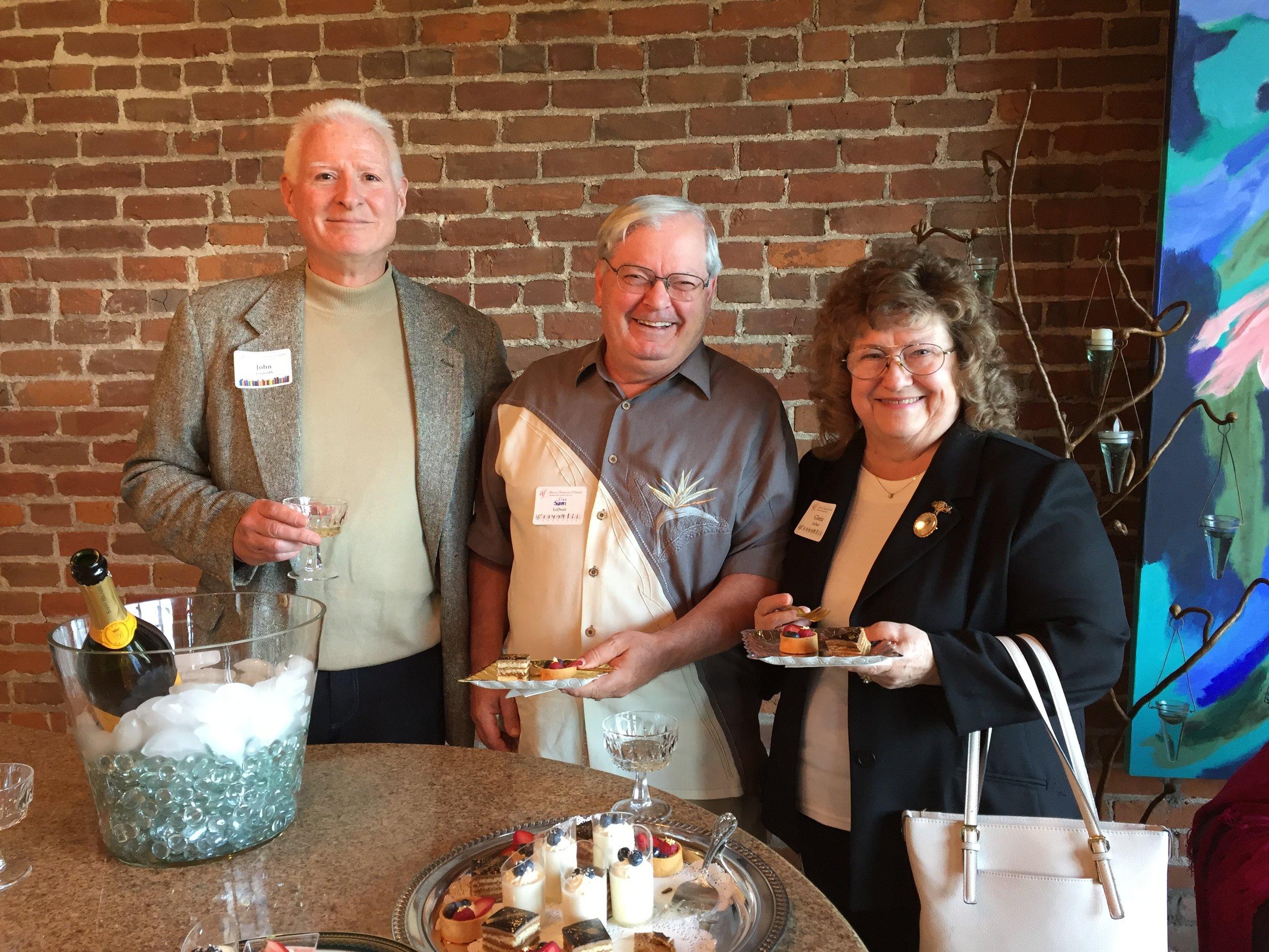 AFO member John Fruhwirth and new members, Dan and Gloria LeDroit.