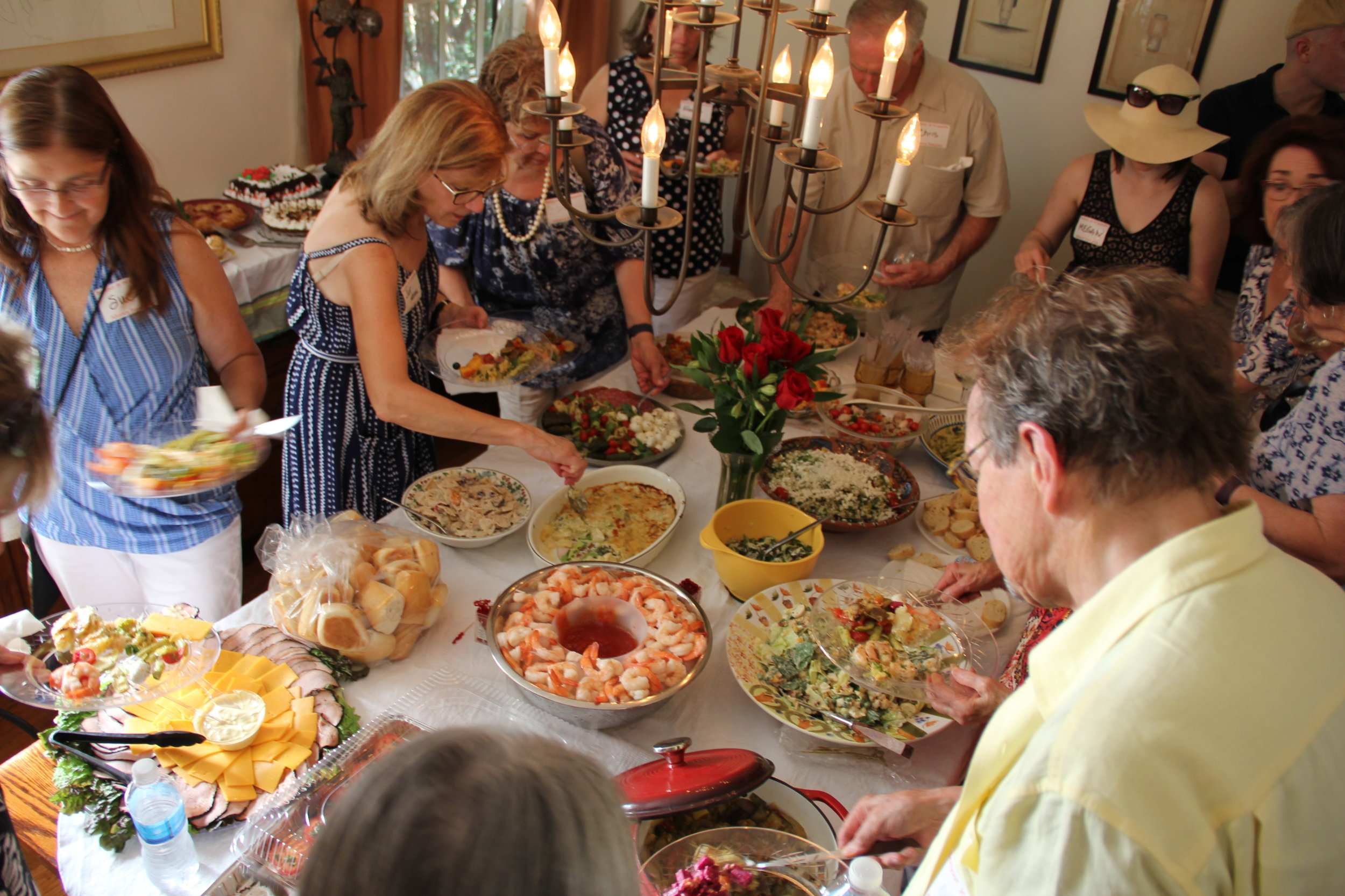 Many thanks to all who brought delicious food to share - the best way to celebrate!