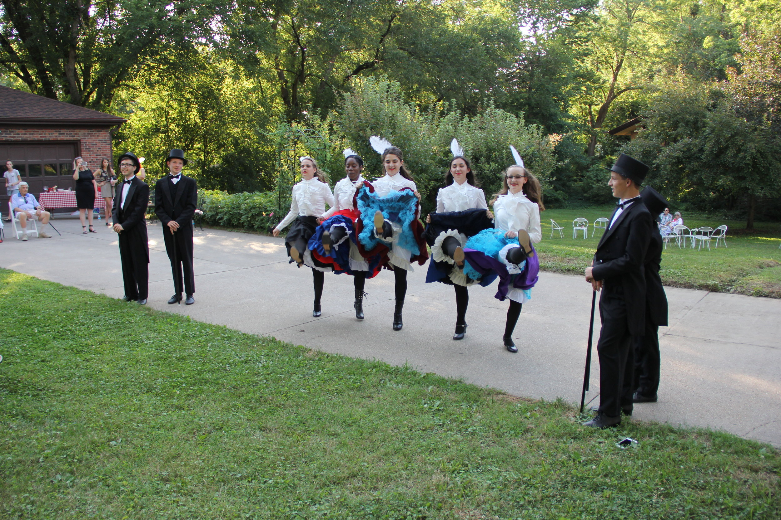 No Bastille Day is complete without traditional can-can dancers! They were marvelous!