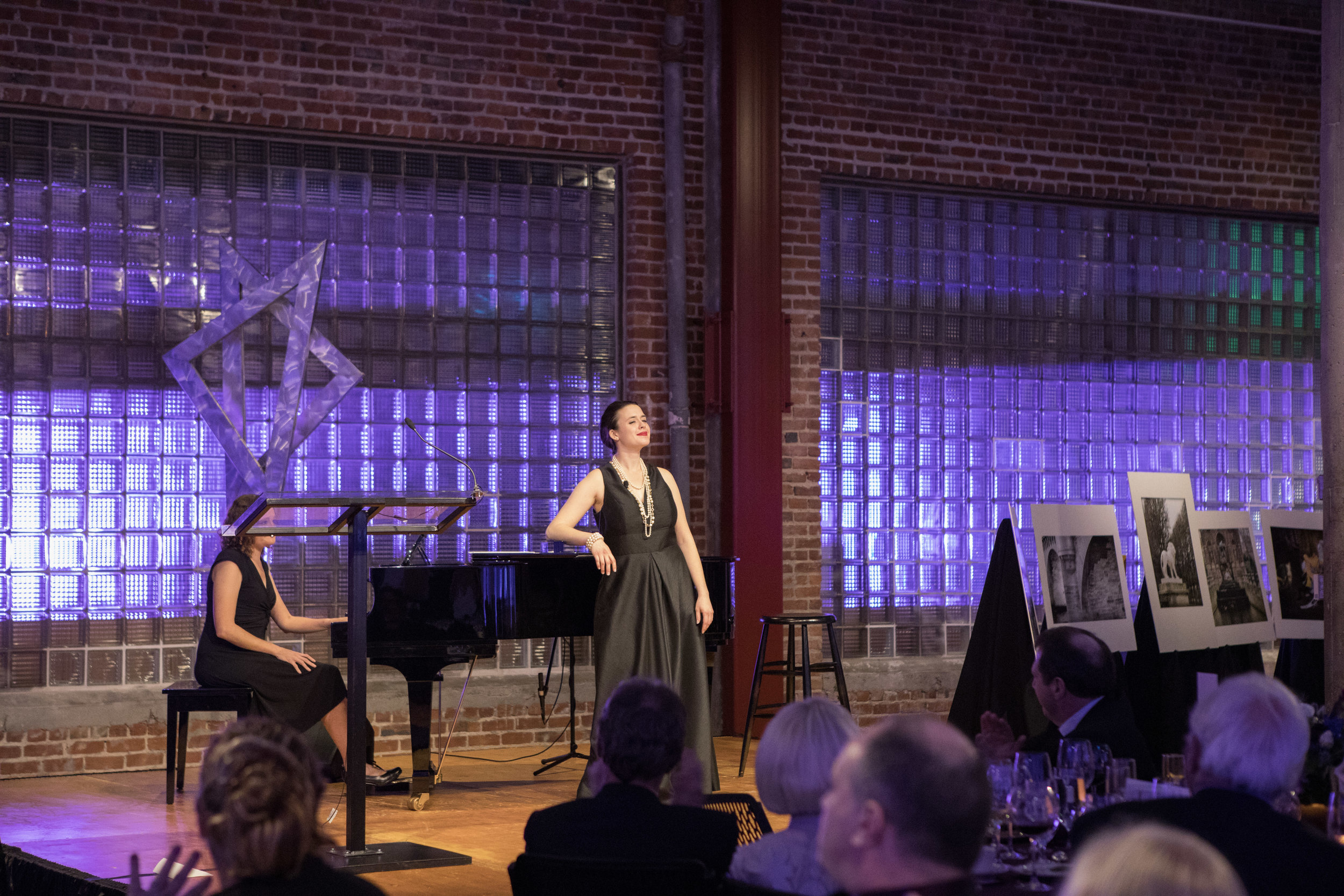 Accompanied on piano by Jennifer Novak-Haar, award-winning soprano Kate Johnson regaled the audience with numerous French musical selections.