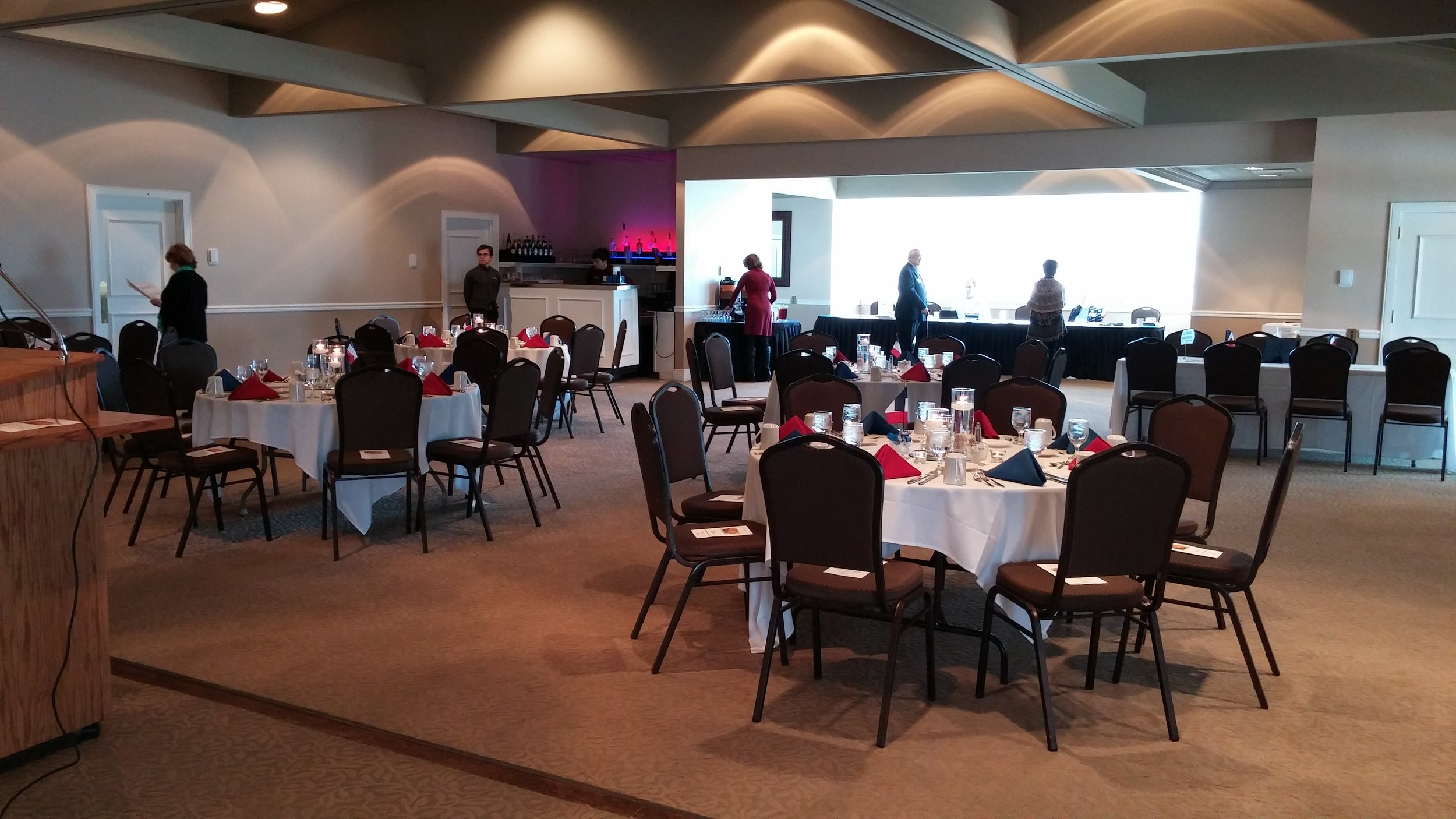 Preparations at Field Club for the AFO luncheon