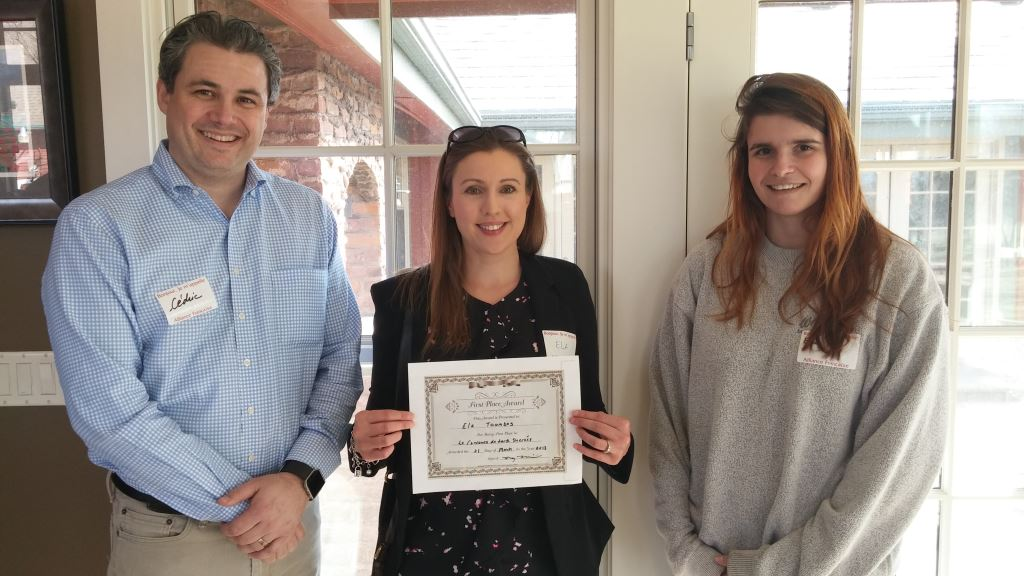 1st Place Winner - Ela Toombs. Judges were Cedric Fichepain, Le Voltaire, Omaha and Emily Post, The Normandy, Lincoln.