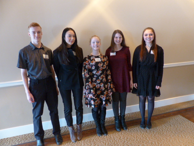The 2019 AFO Scholarship Recipients include: Victoria Fleming (Duchesne), Evangeline Mason (Duchesne), Owen Sumter (Papillion-LaVista), Victoria Swanson (Elkhorn South), and Ha Le Xuan (Papillion-LaVista).