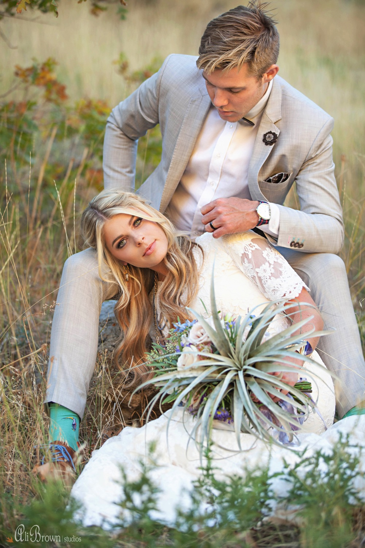 Earthy Glam Wedding Inspiration - Air Plant Bouquet