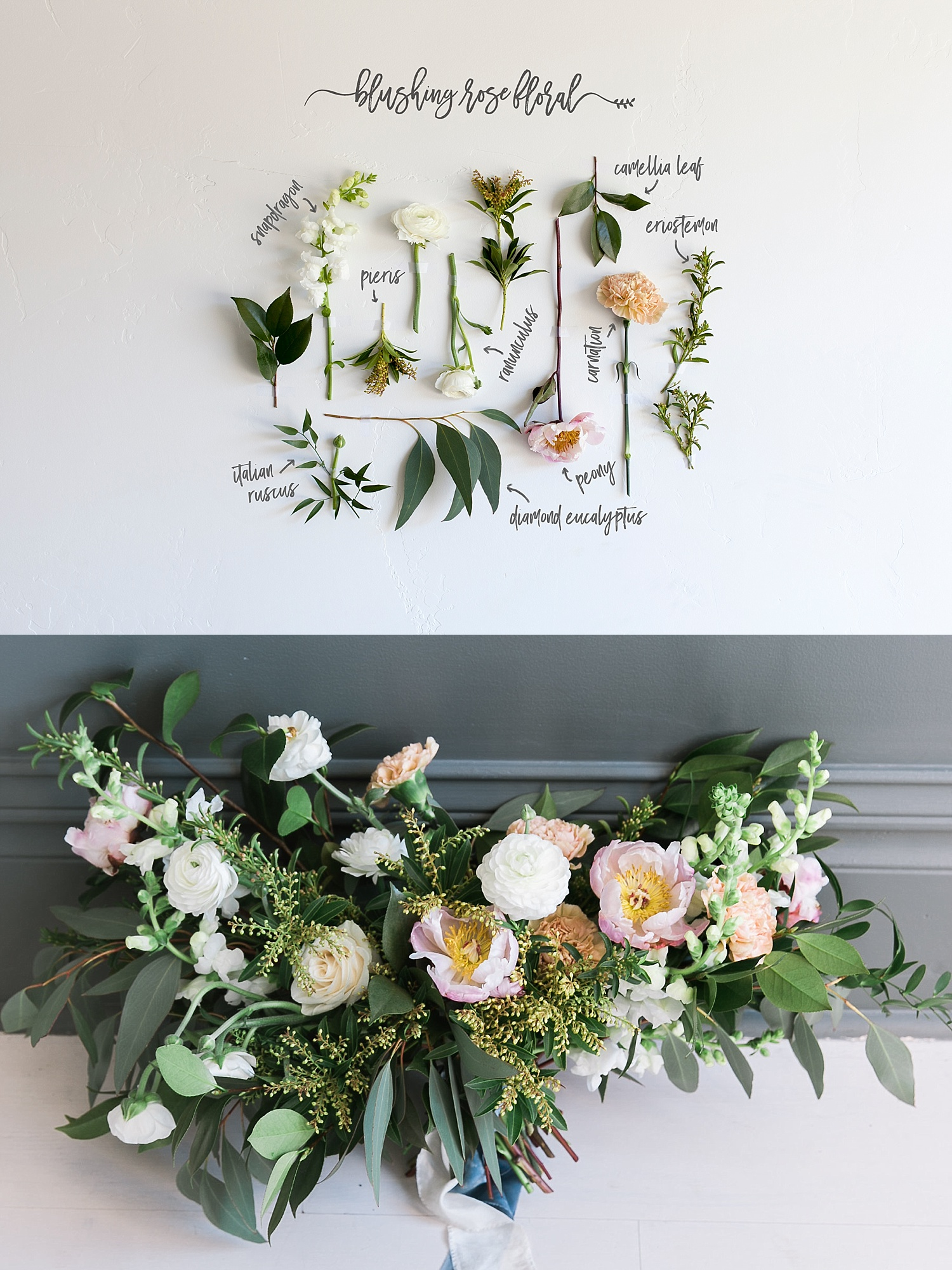 Spring bouquet flower recipe | Blushing Rose Floral