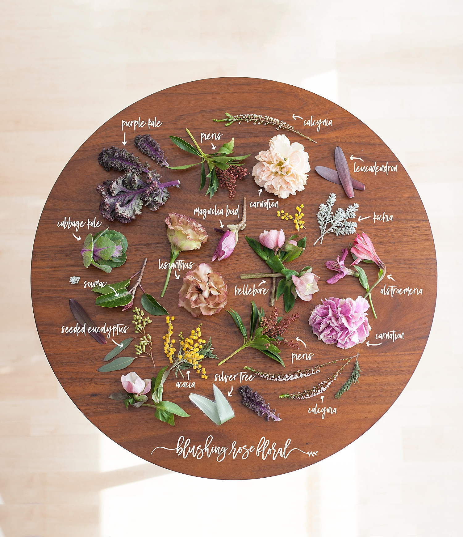 Textural bridal bouquet breakdown by Blushing Rose Floral